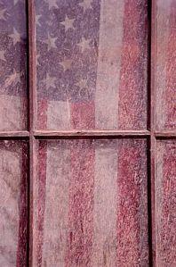 American Flag in Window