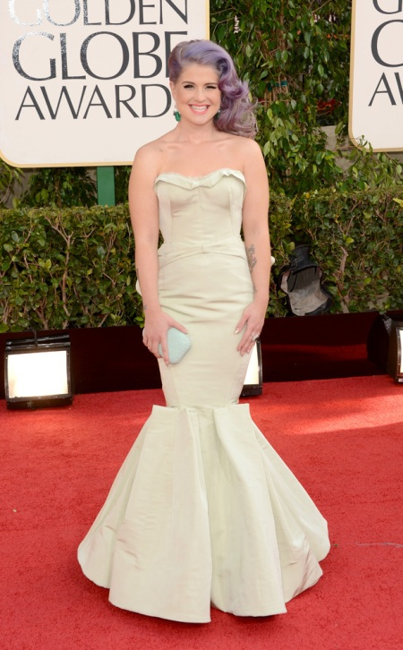 Kelly Osborne in Zac Posen