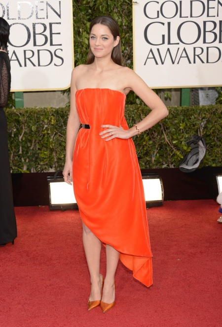 Marion Cotillard in tea length Dior
