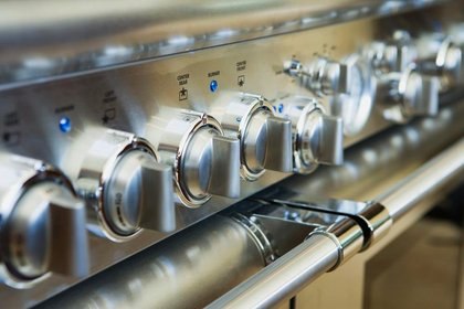 modern stainless steel oven knobs