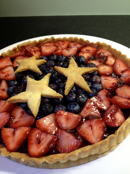 Stars and Stripes Tart: BEFORE