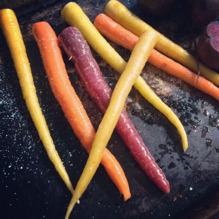 How could anyone prefer fake colored processed junk to gorgeous rainbow carrots?