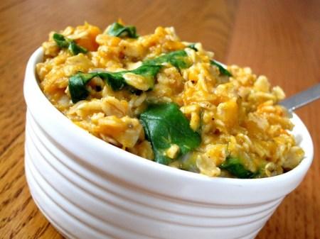 butternut-squash-and-greens-oatmeal-8