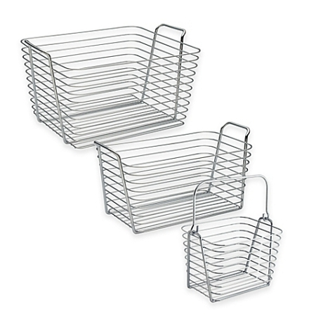 Wire bins from Bed Bath and Beyond